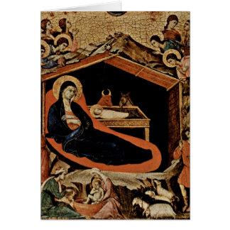 Geburt Christi durch Duccio Grußkarte