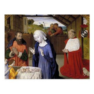 Geburt Christi durch Meister von Moulins Postkarte