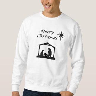 Geburt Christi mit Stern-Weihnachten Sweatshirt
