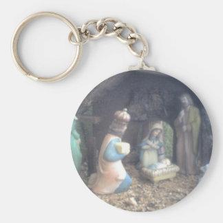 Geburt Christi Standard Runder Schlüsselanhänger