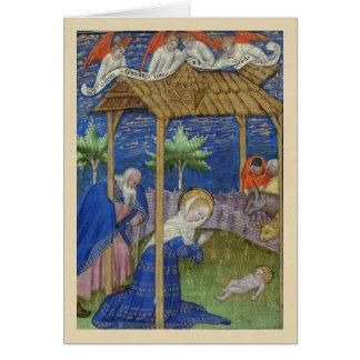 Geburt Christis-belichtetes Karte