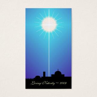 Geburt Christis-Karte ~ 2009 Bethlehems lebendes Visitenkarte