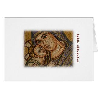 Geburt Christis-Mosaik Karte