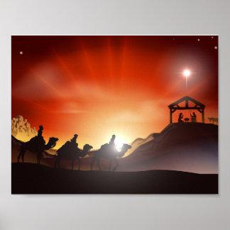 Geburt Christis-Szenen-Plakat Poster