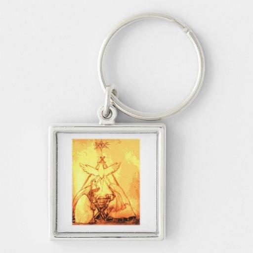 Geburt Christis-Szenen-Schlüsselkette Schlüsselanhänger