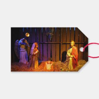 Geburt Christis-Szenen-Weihnachtsfeiertags-Anzeige Geschenkanhänger