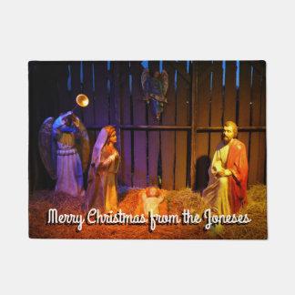 Geburt Christis-Szenen-Weihnachtsfeiertags-Anzeige Türmatte