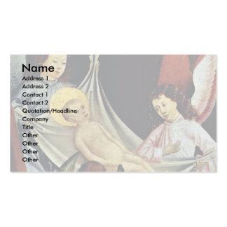 Geburt Christis-Verehrung des Christus-Kindes Visitenkartenvorlagen