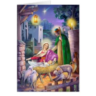 Geburt Christis-Weihnachten Karte