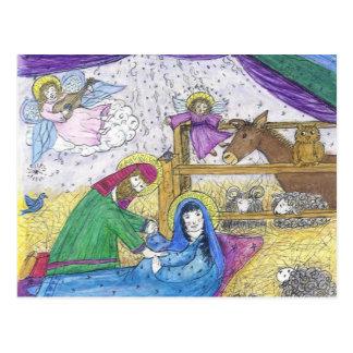 Geburt Christis-Weihnachten Postkarte