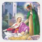 Geburt Christis-Weihnachten Quadratischer Aufkleber