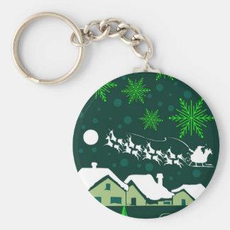 Geburt Christis-Weihnachten Standard Runder Schlüsselanhänger