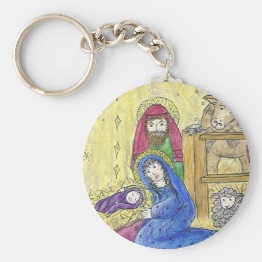 Geburt Christis-Weihnachtsschlüsselkette Schlüsselband