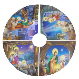 Geburt Christisfeiertag Weihnachtsbaumrock Polyester Weihnachtsbaumdecke