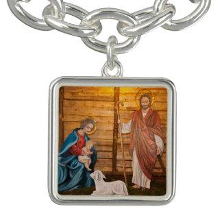 Geburt Christisszene Charm Armbänder