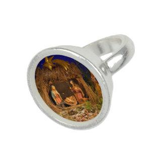 Geburt Christisszene Foto Ringe