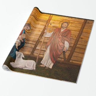 Geburt Christisszene Geschenkpapier