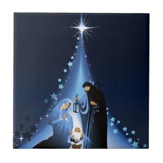 Geburt Christisszene Keramikfliese