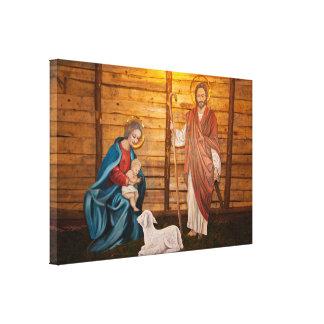 Geburt Christisszene Leinwanddruck