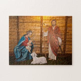 Geburt Christisszene Puzzle