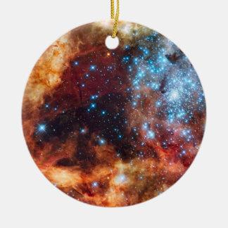 Geburt der Stern-kosmischen runden Verzierung Keramik Ornament