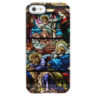 Geburt des Jesus-Buntglas-Fensters Durchsichtige iPhone SE/5/5s Hülle