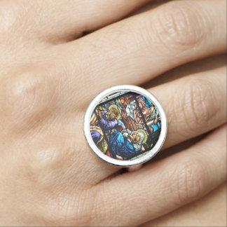 Geburt des Jesus-Buntglas-Fensters Ring