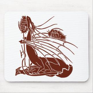 """Geburt eines Drachen"" - tiefrot - Mousepad"