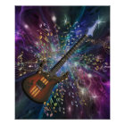 Geburt eines Gitarren-Raum-Musik-Plakats Poster