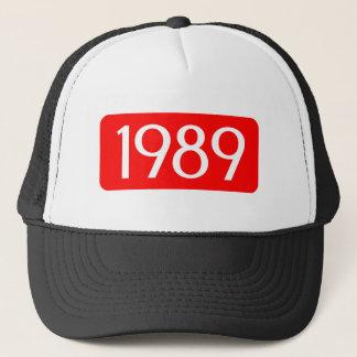 Geburt Jahrtext-Geburtstagszahl 1989 Truckerkappe