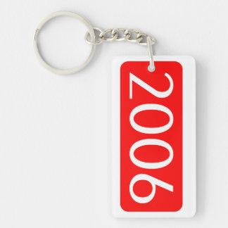 Geburt Jahrtext-Geburtstagszahl 2006 Einseitiger Rechteckiger Acryl Schlüsselanhänger