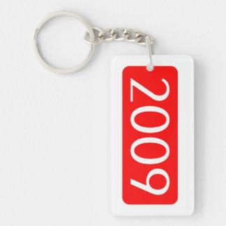 Geburt Jahrtext-Geburtstagszahl 2009 Einseitiger Rechteckiger Acryl Schlüsselanhänger