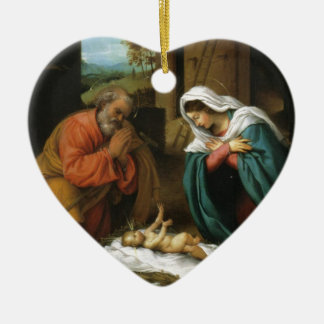 Geburt Keramik Herz-Ornament
