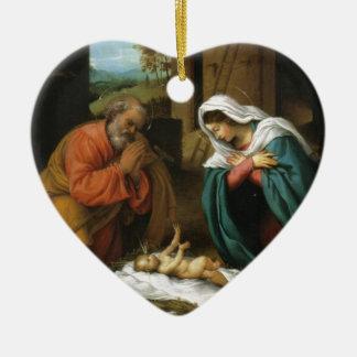 Geburt Keramik Ornament
