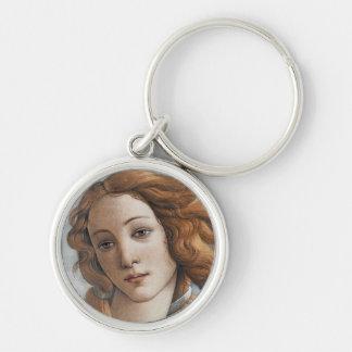 Geburt nahen hohen Kopfes Venus Silberfarbener Runder Schlüsselanhänger