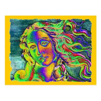 Geburt rauen Randes Venus Postkarte