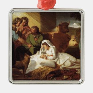 Geburt Silbernes Ornament