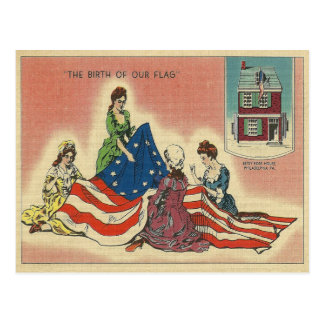 Geburt unserer Flagge Postkarte
