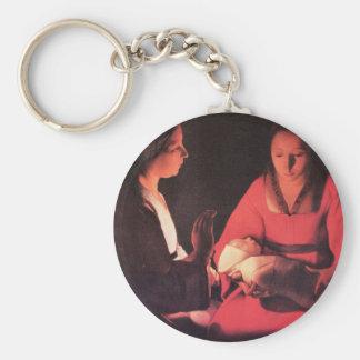 Geburt von Christus durch Georges de La Tour Schlüsselanhänger