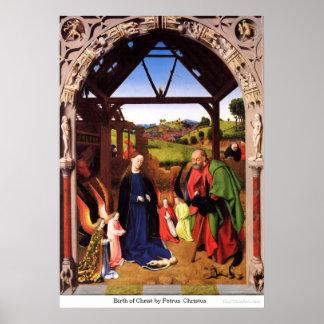Geburt von Christus durch Petrus Christus Poster