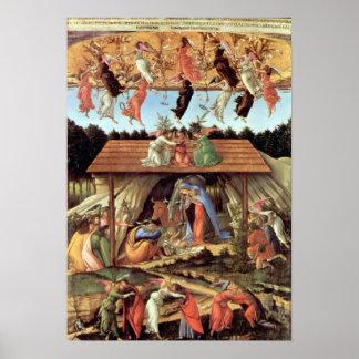 Geburt von Christus, mystische Geburt durch Sandro Poster