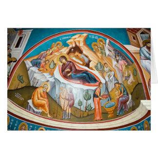 Geburt von Christus - Wandgemälde Karte