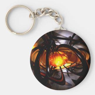 Geburt von einem Sun abstraktes Keychain Standard Runder Schlüsselanhänger