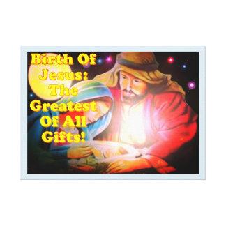 Geburt von Jesus: Das bestste aller Geschenke! Leinwanddruck