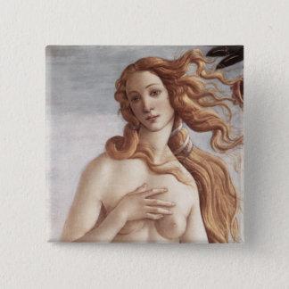 Geburt von Venus im Detail Quadratischer Button 5,1 Cm