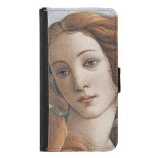 Geburt von Venus nah oben durch Sandro Botticelli Samsung Galaxy S5 Geldbeutel Hülle