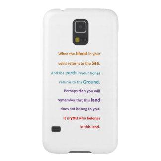 GEBÜRTIGE geistige Klugheit - Sie gehören dem LAND Hülle Fürs Galaxy S5