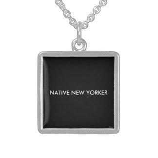Gebürtige New Yorker Sterling Silberkette