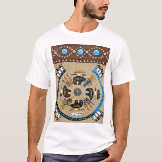 "Gebürtiger Amerikaner ""Sandpainting"" Western-T - T-Shirt"