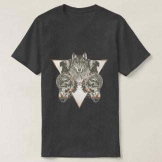 Gebürtiger Amerikaner, Wolf mit Schädel-T - Shirt